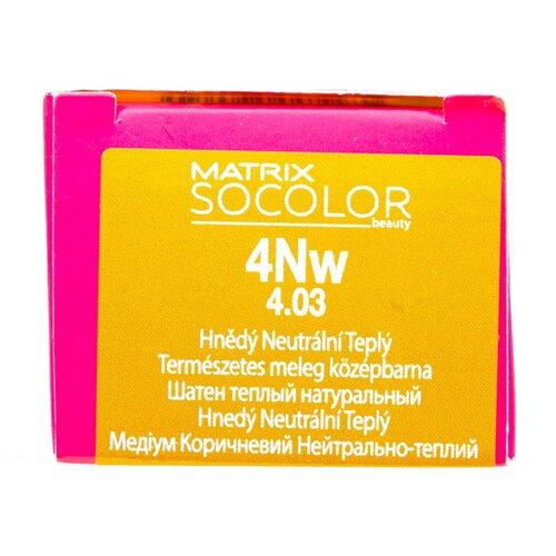 Купить Matrix Socolor Beauty стойкая крем-краска для волос, 4NW шатен теплый натуральный, 90 мл