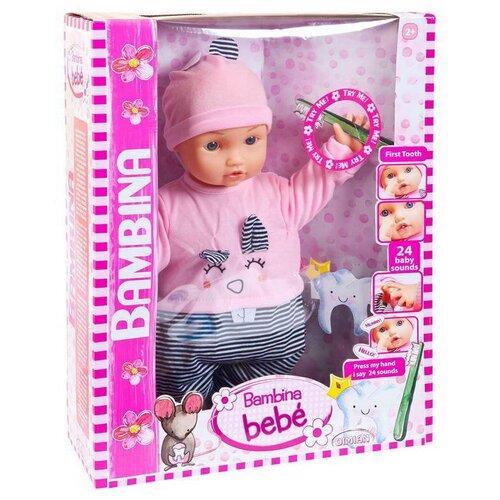 Фото - Кукла DIMIAN Bambina Bebe Пупс Мой первый зуб, звуковые эффекты 46 см dimian