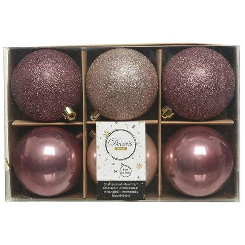 Фото - Набор пластиковых шаров New Year MIX бархатно розовый/нежно розовый, 80 мм, упаковка 6 шт., Kaemingk 023574 набор пластиковых шаров new year mix красный бордовый 60 мм упаковка 12 шт kaemingk 023573