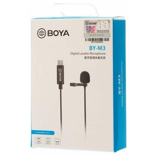 Микрофон BOYA BY-M3, нательный для Type-C devices