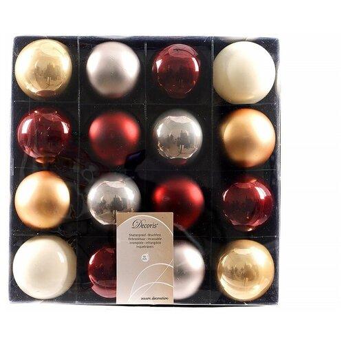 Фото - Набор пластиковых шаров deluxe шоколадная фантазия, матовые, эмалевые, 60 мм, упаковка 16 шт., Kaemingk 023636 набор пластиковых шаров new year mix красный бордовый 60 мм упаковка 12 шт kaemingk 023573