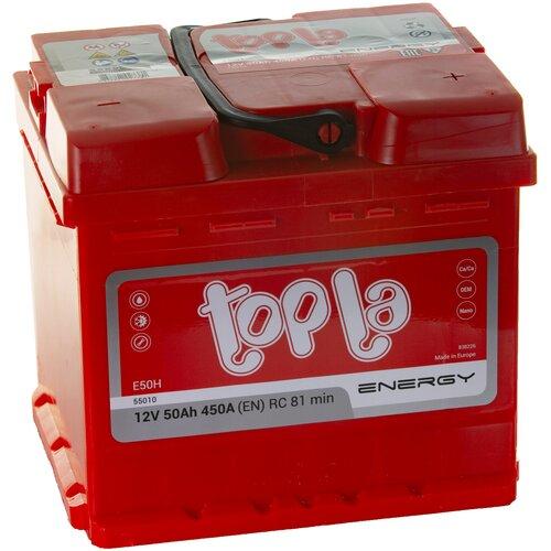 Аккумулятор автомобильный Topla Energy 50 А/ч 450 А обр. пол. (108050, 55010) АКБ для авто
