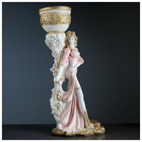 Фигура с кашпо Девушка Диана белое золото 79см 3543075 фигура девушка на коленях золото 10х6х15см 3928137