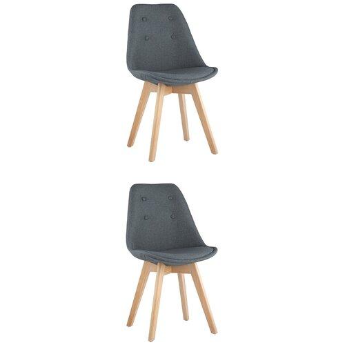 Фото - Комплект стульев для кухни 2 шт TARIQ, голубой, дер. ножки стул stool group tariq голубой деревянные ножки tariq blue