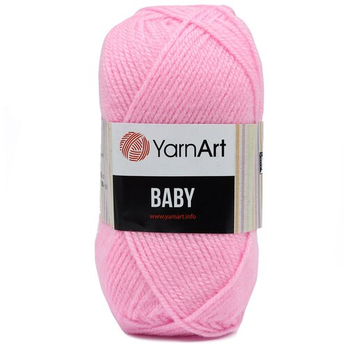 Фото - Пряжа YarnArt 'Baby' 50гр. 150м (100%акрил) (217 светло-розовый), 5 мотков пряжа yarnart baby 50гр 150м 100% акрил 1182 коричневый 5 мотков