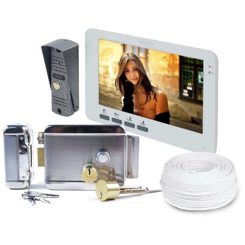 Комплект домофон - электромеханический замок: Эплутус EP-4805 Anxing Lock-AX042 (домофон и электромеханический замок) в подарочной упаковке