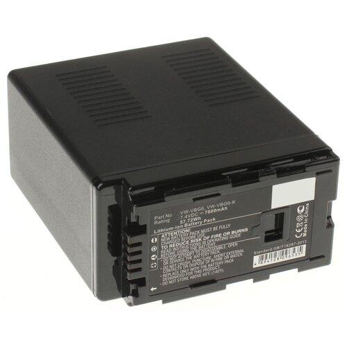 Фото - Аккумуляторная батарея iBatt 7800mAh для Panasonic VW-VBG390, VW-VBG6-K, VW-VBG130-K аккумулятор ibatt ib b1 f457 3400mah для panasonic vw vbt190 vw vbt380 vw vby100 vw vbt380e k