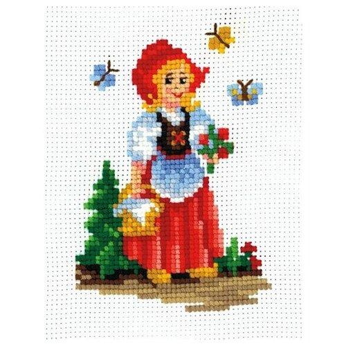 Набор для вышивания сделай своими руками арт.К-16 Красная шапочка 12х17 см