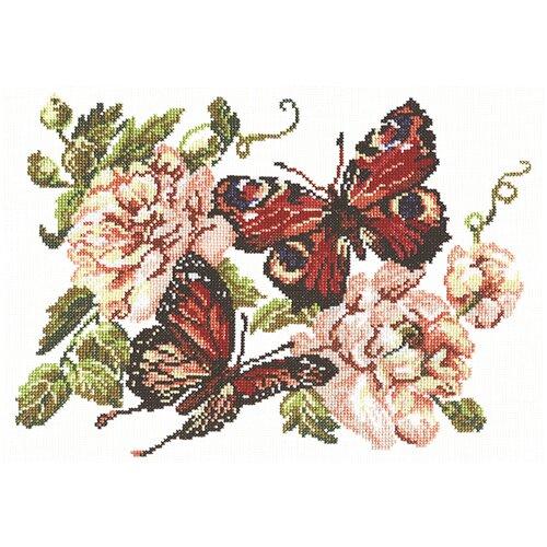 Чудесная Игла Набор для вышивания Пионы и бабочки 30 х 22 см (42-06) чудесная игла набор для вышивания пионы для умелицы 25 х 25 см 100 124
