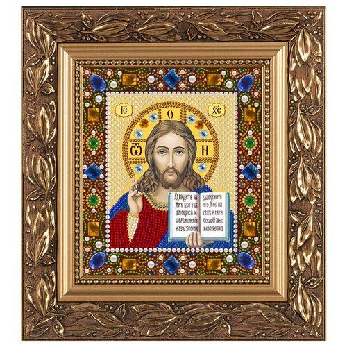 NOVA SLOBODA Набор для вышивания бисером иконы Христос Спаситель 13 х 15 см (Д6024)