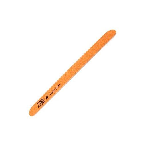 Купить Irisk, Пилка цветная овал тонкая (Оранжевая №02, №100/100), Irisk Professional