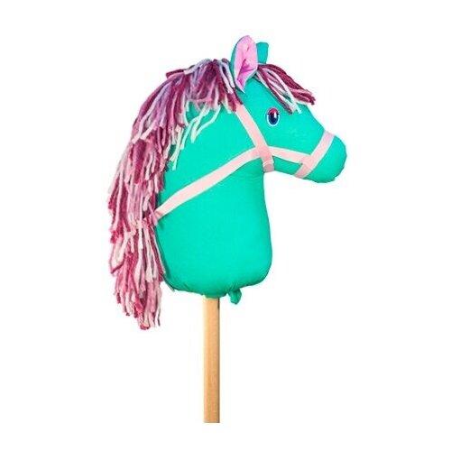 Лошадка на палке с мягкой головой Ханна