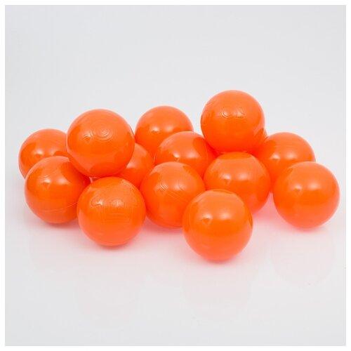 Шарики для сухого бассейна Соломон с рисунком, d 7,5 см, 150 штук, цвет морковный
