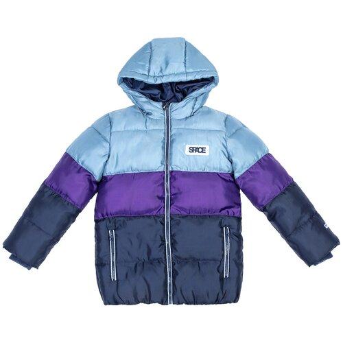 Куртка playToday 381101 размер 104, фиолетовый/темно-синий/серый худи playtoday размер 104 серый красный