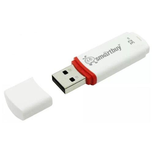 USB Флеш-накопитель Smartbuy Crown 32 Гб белый