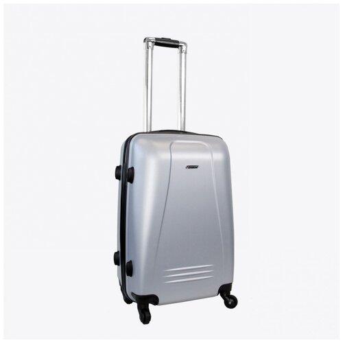Фото - Чемодан Rion+, 416/3 серый 22 чемодан rion 418 3 62 л серый