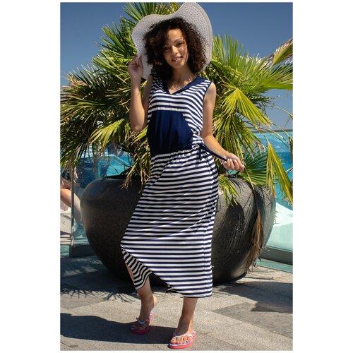 Пляжное платье Натали, размер 52, синий