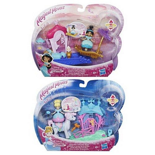 Купить Кукла Hasbro Disney Princess маленькая с транспортом 2 вида (Жасмин, Золушка), Куклы и пупсы