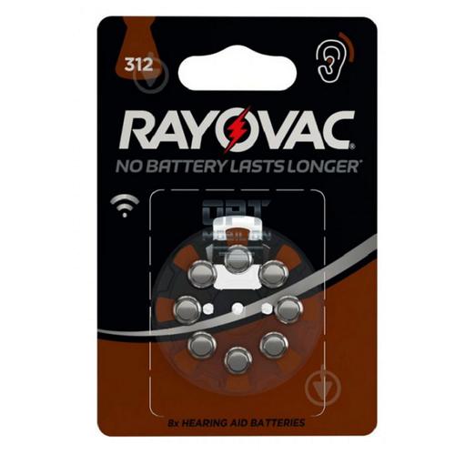 Фото - Элемент питания для слуховых аппаратов RAYOVAC EXTRA 312 1,45V (8 шт) батарейка rayovac peak za13 6 шт