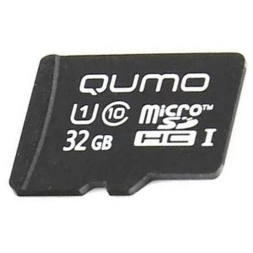 Карта памяти 32Gb - Qumo MicroSDHC Class 10 UHS-I 3.0 QM32GM