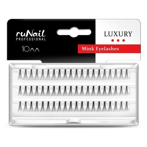 Купить RuNail, пучки для наращивания ресниц с узелками Luxury (норка Ø 0, 15 мм, №12), Runail Professional