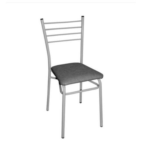 """Стул С мягким сиденьем (серый), основание сталь (1/4) """"виолет"""""""