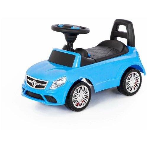 Каталка-автомобиль Полесье SuperCar №3, со звуковым сигналом, голубая недорого