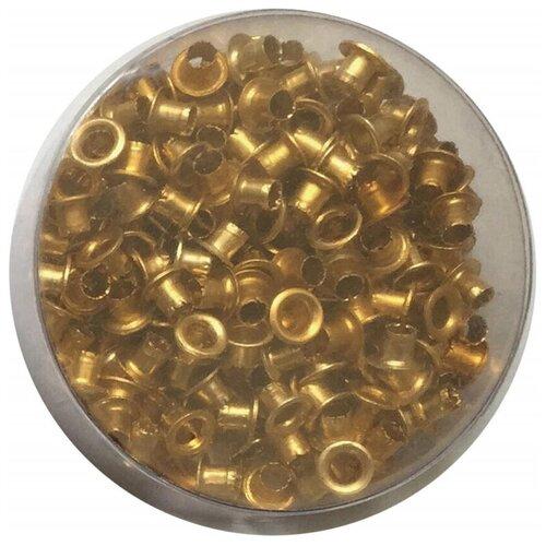 Дырокол Attache люверсы 250 шт./уп, диаметр= 4,8, золотистые 2 шт.