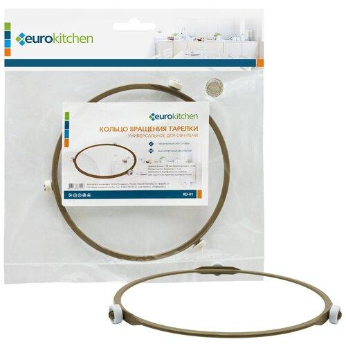 EUROKITCHEN Кольцо вращения тарелки для СВЧ-печи Eurokitchen диаметр кольца 180 мм диаметр ролика 12 мм RD-01