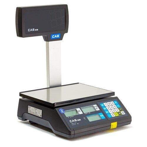 Торговые весы CAS ER-JR-15CBU, черный cas весы торговые cas er jr 15cbu er jr 15cbu