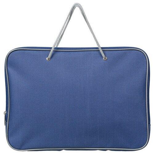 Купить Папка на молнии с ручками, А4 синяя, нейлон 85-41, Attache, Файлы и папки