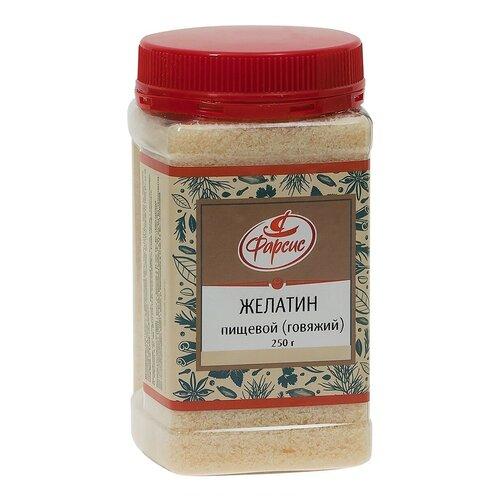 Фарсис желатин пищевой П-11 говяжий, гранулы, ГОСТ 11293-89, ПЭТ-банка, 250 г
