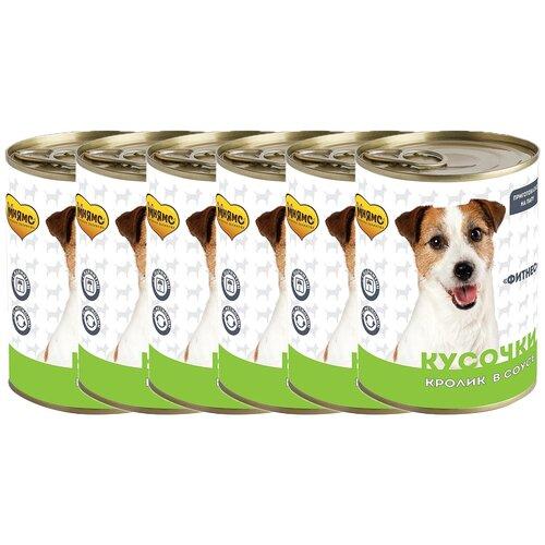 Фото - Мнямс Кусочки в соусе с кроликом для собак всех пород «фитнес» 400 г х 6 шт. консервы мнямс кусочки в соусе с говядиной и печенью для собак всех пород здоровые суставы 400 г