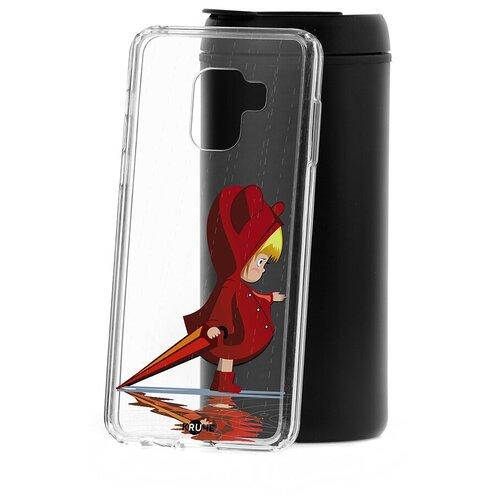 Чехол на Samsung Galaxy A8 2018 (A530) Kruche Print Девочка с зонтом чехол на samsung galaxy a10s kruche print девочка с зонтом