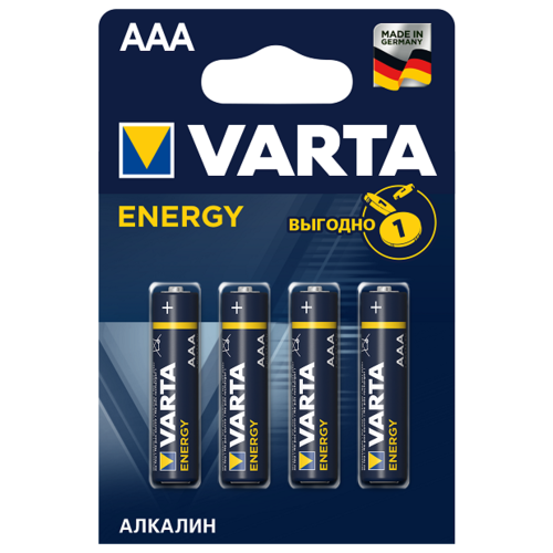 Фото - Батарейка VARTA ENERGY AAA/LR03 бл 4 батарейка varta energy d lr20 бл 2
