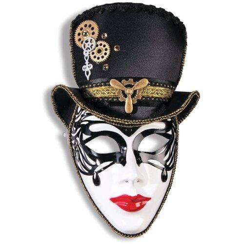 Аксессуар для праздника Forum Novelties Маска Мадам стимпанк в шляпе Forum