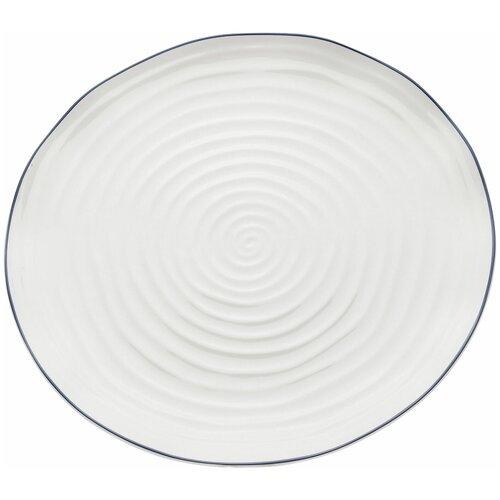 KARE Design Тарелка Swirl, коллекция Водоворот 31*3*31, Фарфор, Белый