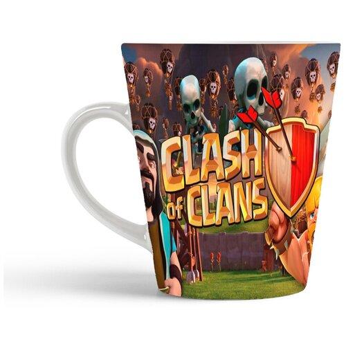 Кружка-латте CoolPodarok Клэш оф клэнс Clash of Clans (на фоне скелеты)