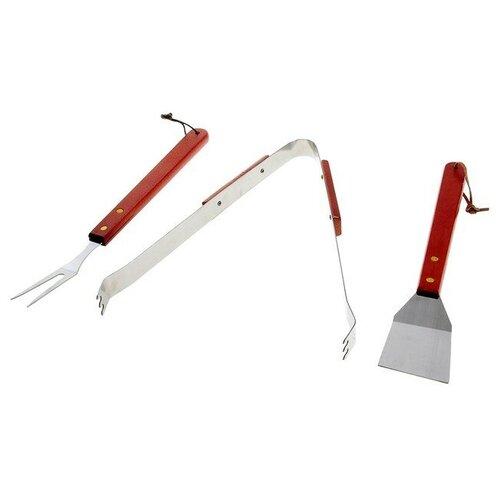 Набор для барбекю (лопатка, щипцы, вилка), 35 см 134213