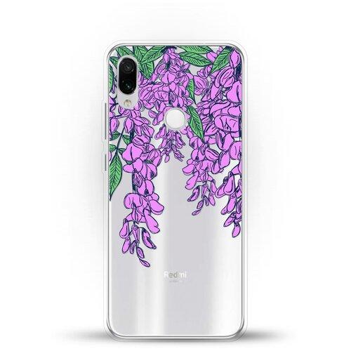 Фото - Силиконовый чехол Цветы фиолетовые на Xiaomi Redmi Note 7 ультратонкий силиконовый чехол накладка для xiaomi redmi 7 с принтом нежные цветы