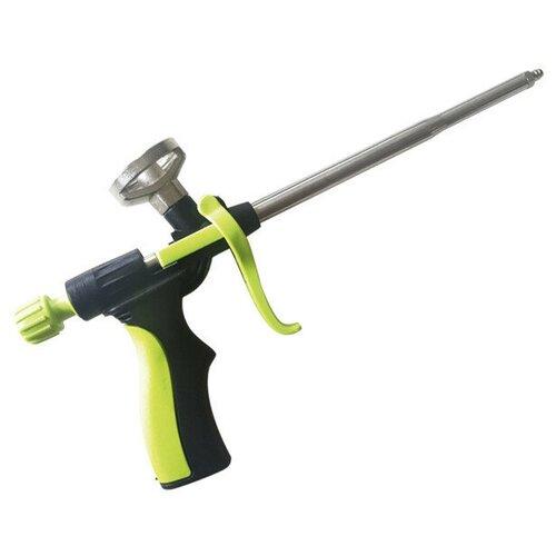 Пистолет для монтажной пены, пластиковый корпус, двухкомпонентная рукоятка и регулировочный винт