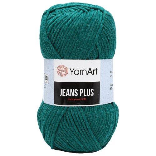 Пряжа YarnArt 'Jeans Plus' 100гр 160м (55% хлопок, 45% полиакрил) (63 темно-бирюзовый) 5 шт пряжа yarnart пряжа yarnart jeans plus цвет 53 черный