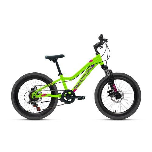 Велосипед 20 Forward Twister 20 2.0 AL Disc рама 10,5 ярко-зелёный/фиолетовый RBKW1J306002 палатка tramp lite twister 3