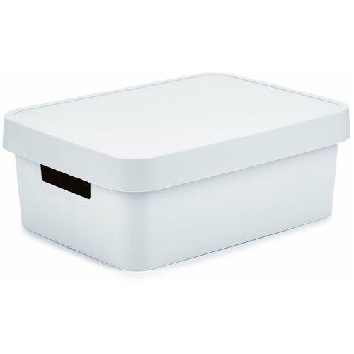 Коробка INFINITY с крышкой 11л серая,CURVER