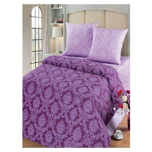 Комплект постельного белья Миланика Нефрит Жаккард, 1,5-спальное, тип ткани поплин, состав: хлопок 100%.