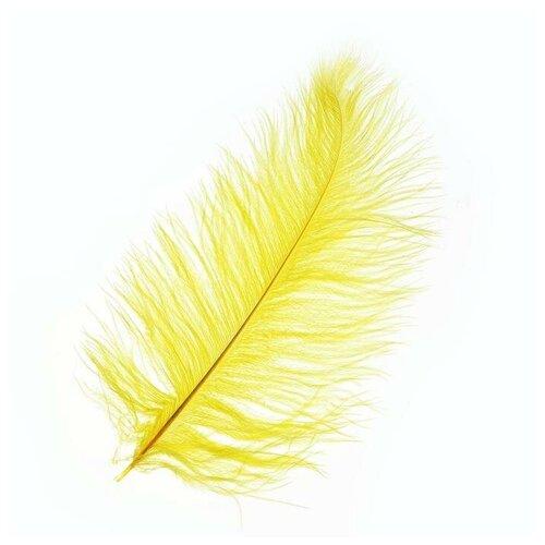 Фото - Перо для декора, размер 25-30 см, цвет желтый 6900039 автобус сима ленд 1011448 25 см желтый