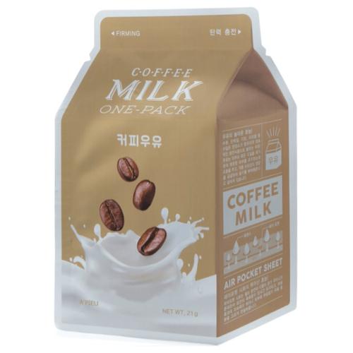 Купить Маска тканевая укрепляющая с экстрактом кофе и коллагеном A'Pieu Coffee Milk One-Pack