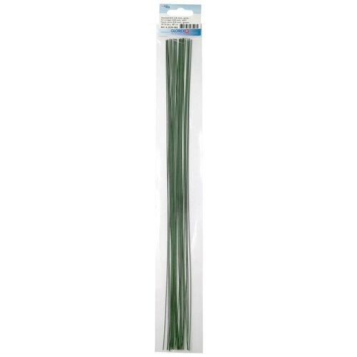 62220082 Проволока для флористики, зеленый цв. 0,80мм, 40см, 30шт Glorex