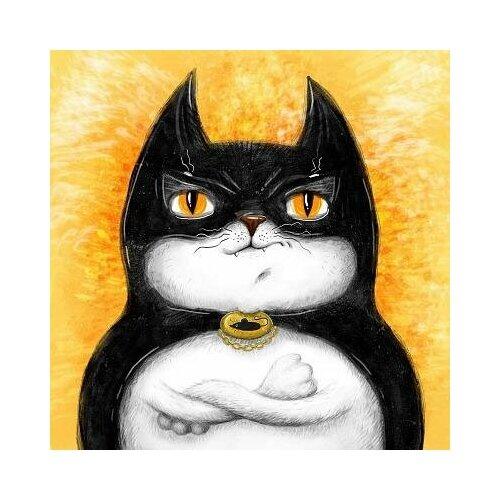 набор д творчества рыжий кот холст с красками 40х50см по номерам в коробке 24цв улыбчивая лиса х 2979 Набор для творчества Рыжий кот Холст с красками по номерам Кот супер-герой 20х20см