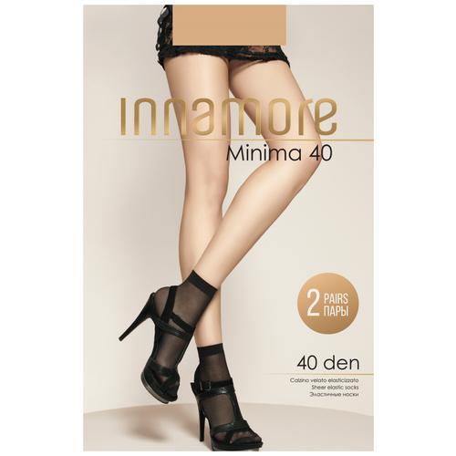 Капроновые носки Innamore Minima 40 den, 2 пары, размер UNI, miele